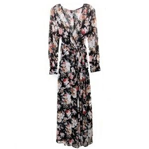 Windsor Women's Floral Floor Length Maxi Dress L